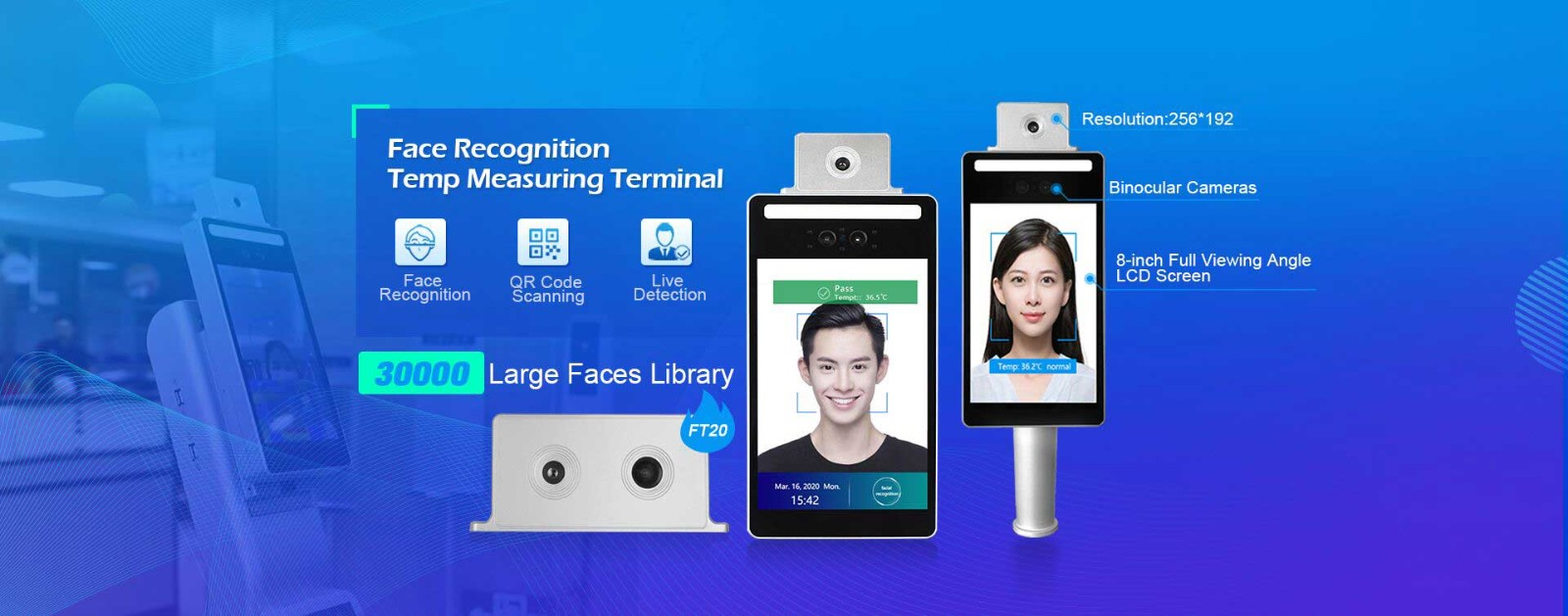 Face Recognition Infrared Temperature Measuring Device