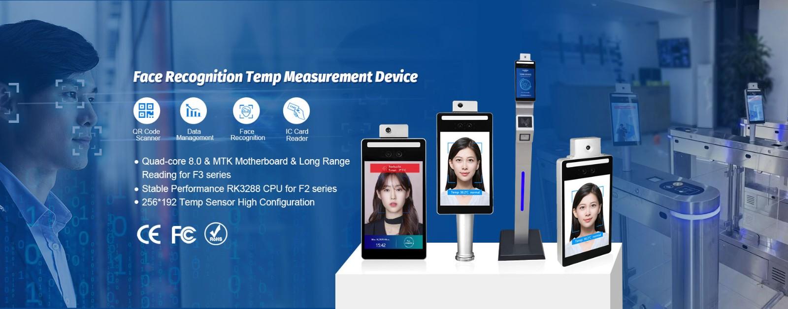 Face Recognition Temperature Measuring Device