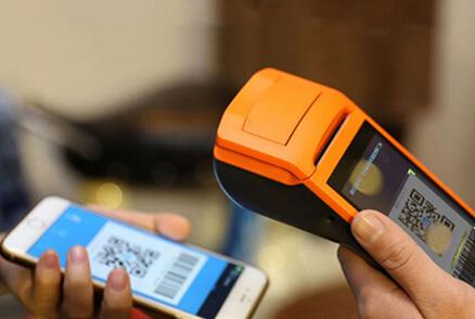 Rakinda S4 Mobile POS barcode scanner using for shopping centers