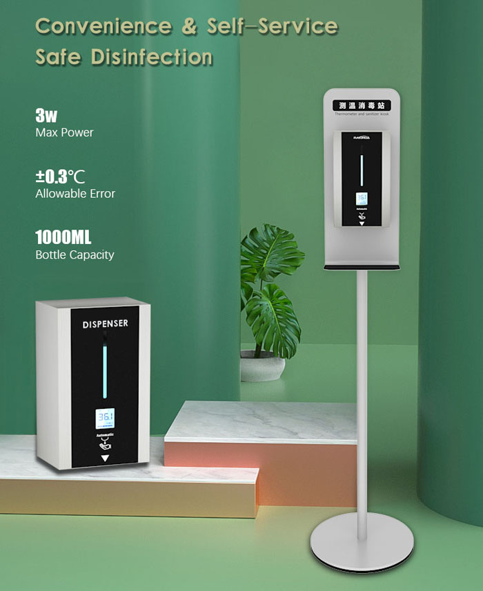 TF88 Intelligent Temperature Measurement Soap Liquid Dispenser