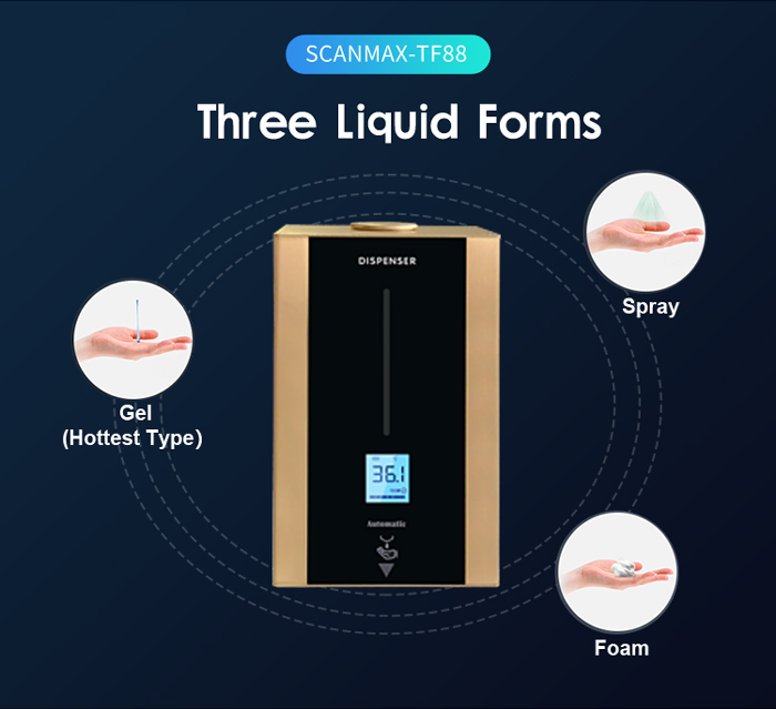 TF86 Stainless Hand Soap Disinfection Kiosk