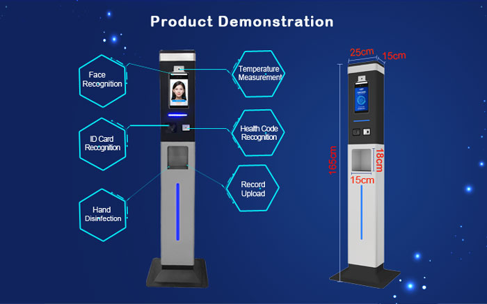 T8 Face Temperature and Hand Disinfection Machine
