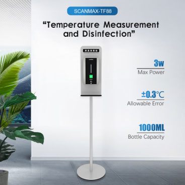 Automatic Dispensing Hand Sanitizer Thermometer for Appearance and Performance Evaluation