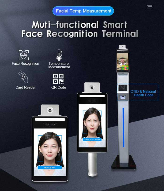F3-FHS Face Recognition Terminal for Temperature Measuring and Attendance