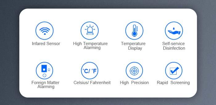 TF86 Infrared Temperature Measurement Hand Sanitizer Machine