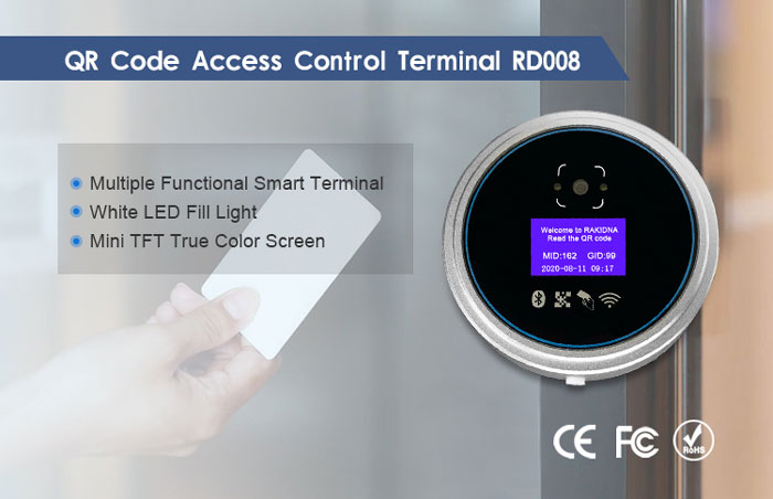RD008 IC Card Reader and QR Code Access Control