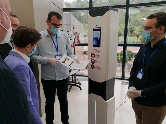 Rakinda Facial Recognition and Temperature Measure Device Gets Good Feedback from Re-sellers in Europe